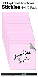 Stickies - 12-Packs 4x4 Pink