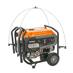 Dual cast fiberglass rods mount to the clamps which adjusts to fit THOUSANDS of generator sizes!