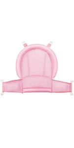 Pink Four Corner Mesh Baby Bath Pillow Bathing Support Seat Cushion Net