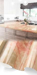 Gloss Salmon Marble Granite Vinyl
