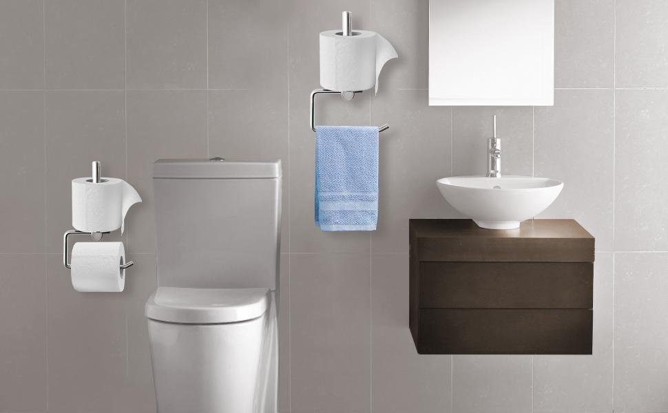 2 in 1 Toilet Paper Holder for bathroom