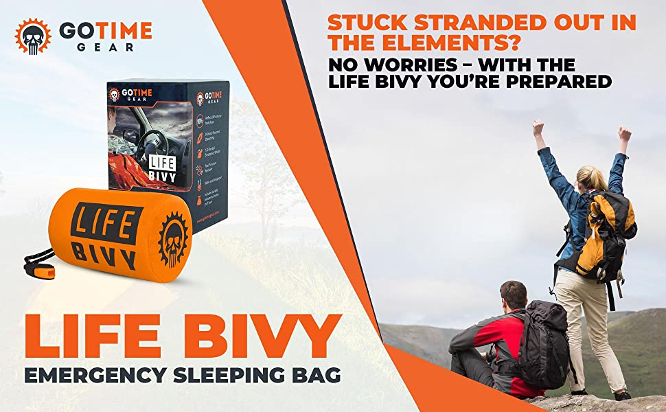 Be prepared for outdoor emergencies with the Go Time Gear Life Bivy