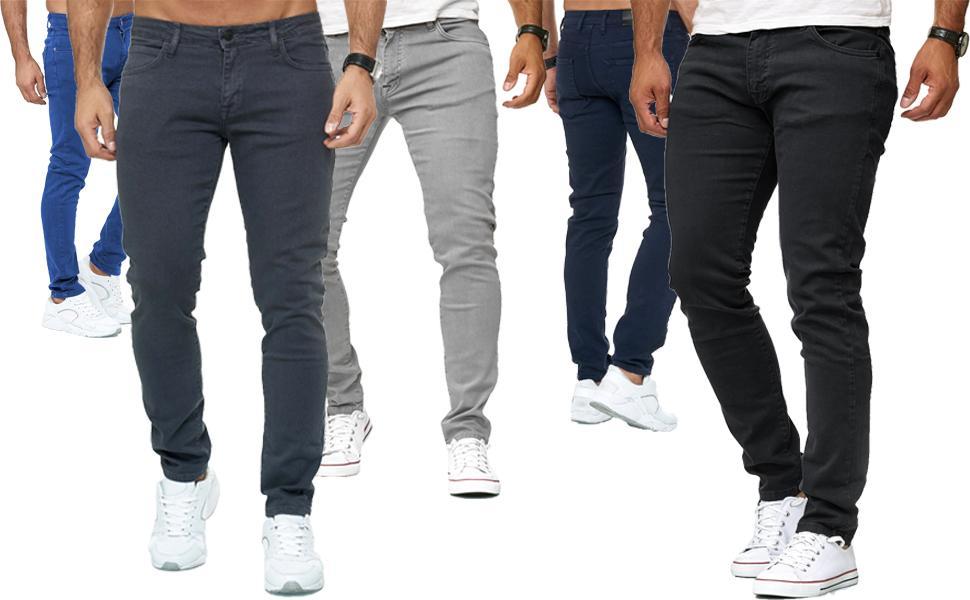 jeans uomo pantalone stretto stretch elasticizzato nero bianco verde beige blu grigio slim fit