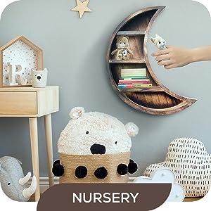 moon shelf nursery