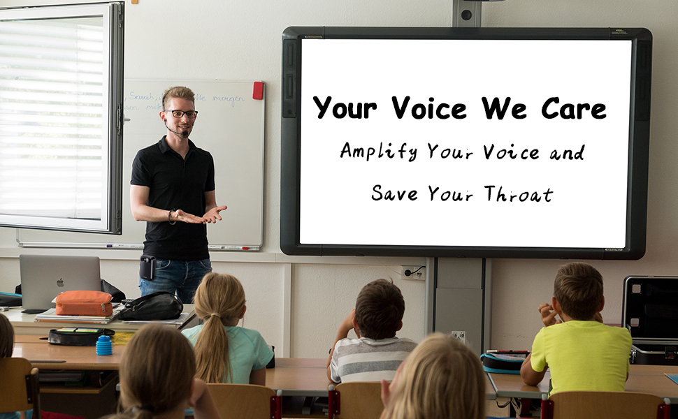 Amplify your voice and save your throat