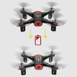 remote control drone with low power alarm