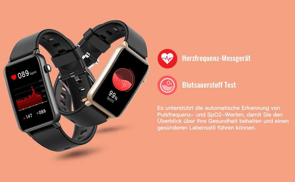 fitness tracker mit herzfrequenz,Blutsauerstoff Test,fitnessuhr,damen uhr,smartwatch herren