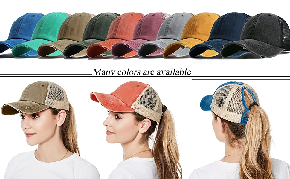 ponytail hats for women