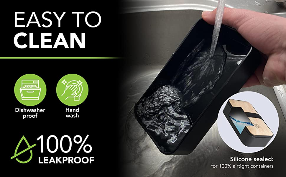 easy to clean leakproof