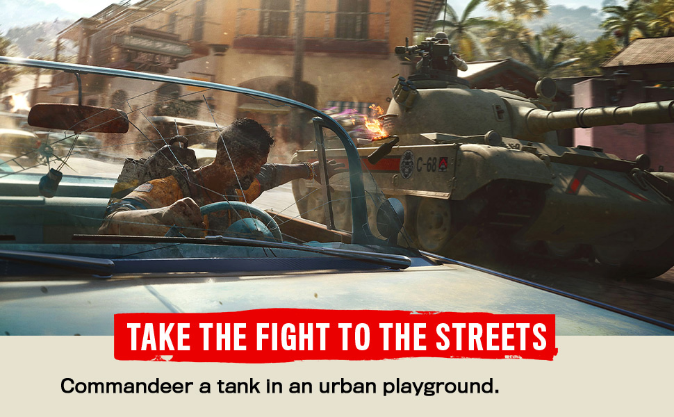 Commandeer a tank in an urban playground