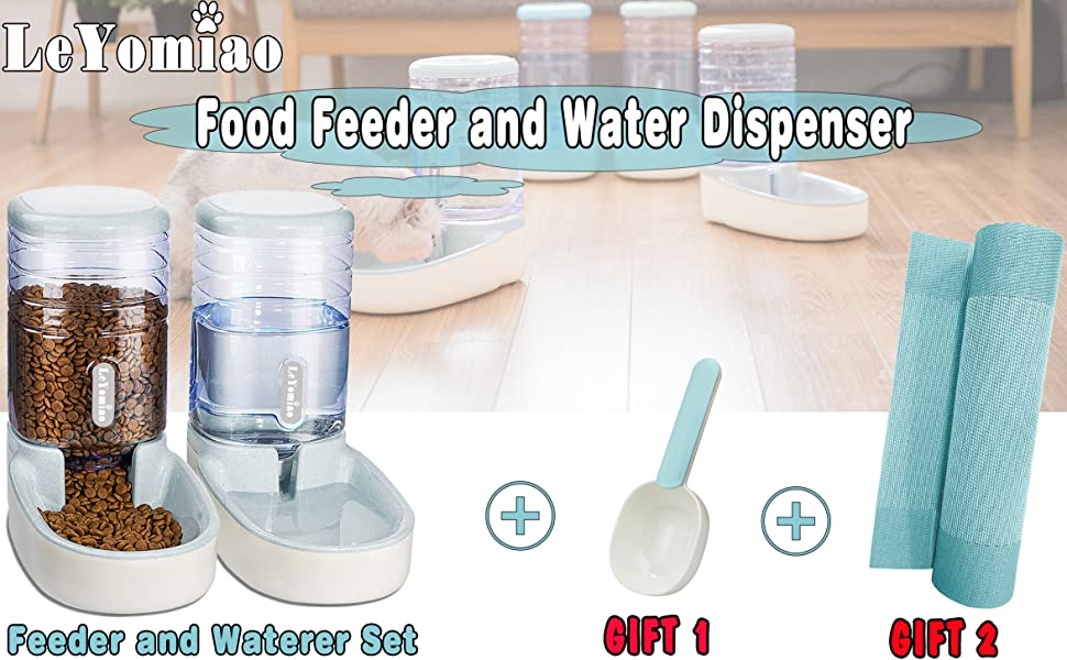 Pets Automatic Feeder and Waterer Set