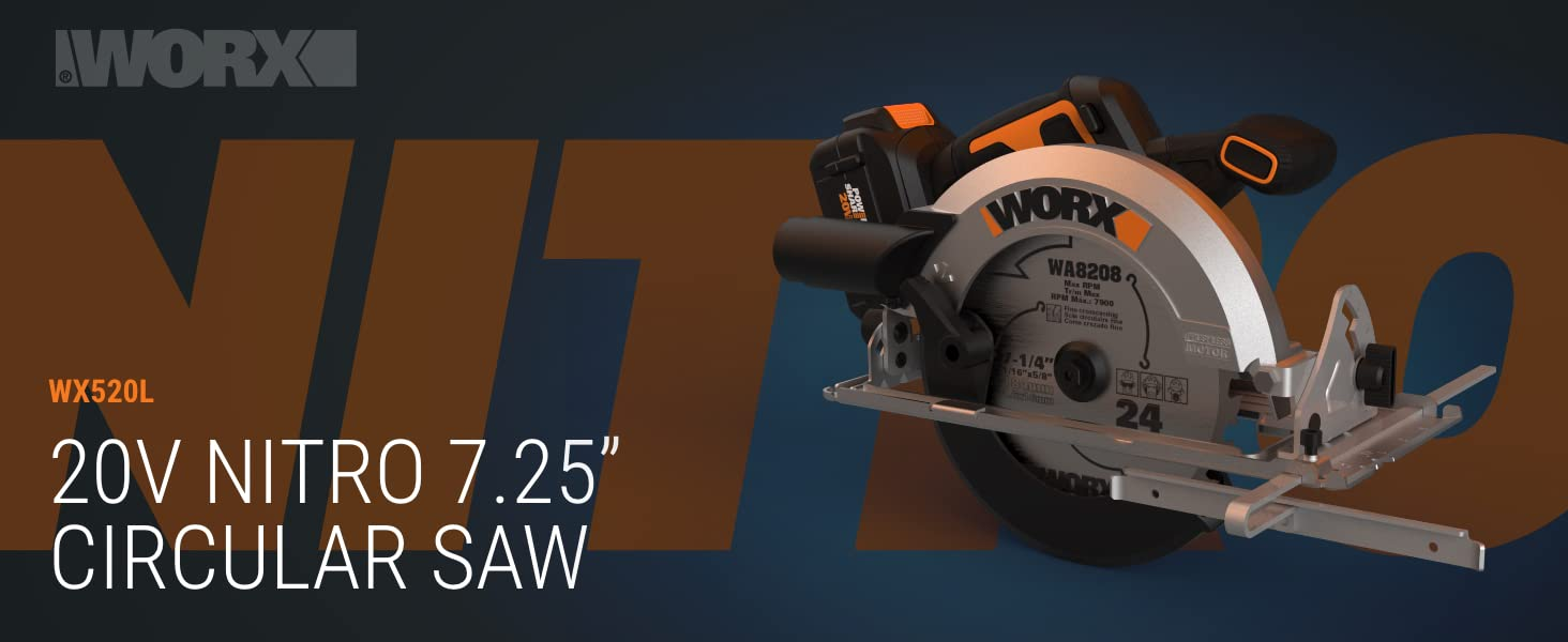 20V WORX NITRO Circular Saw