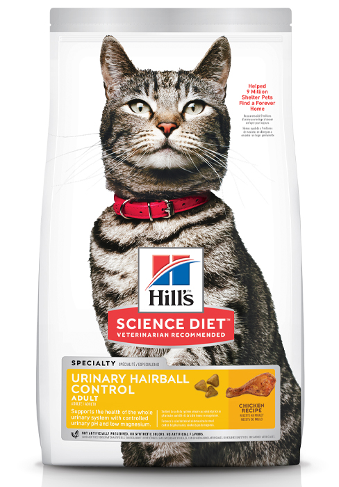 Adult, Urinary amp;amp; Hairball Control, Dry Cat Food