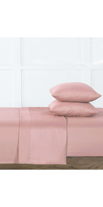 1-Coral Solid  Silver-Infused Microfiber 4-Piece Sheet Set
