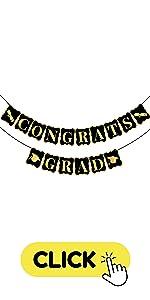 black and gold congrats Grad banner