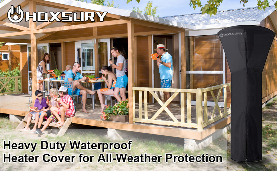 Stand-Up Outdoor Waterproof Full Heater Cover