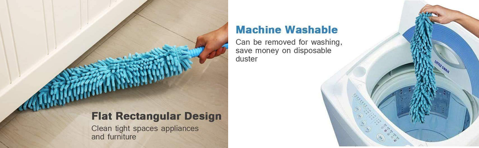 Flexible Feather Magic Microfiber Cleaning Duster Brush for Extendable Rod, Dust Cleaner with H