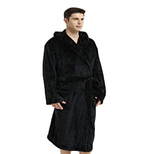 Mens flannel robes warm