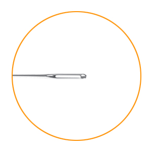 Show the giant eye of a needle