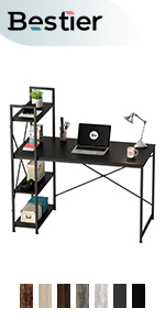 computer desk with storage 47 inch home office desk study table