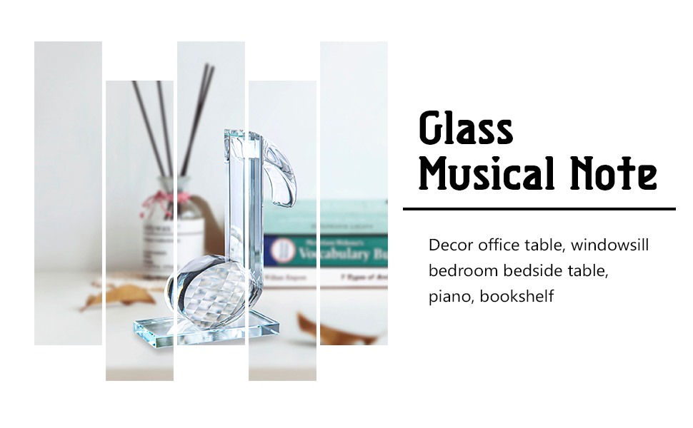 Glass Musical Note