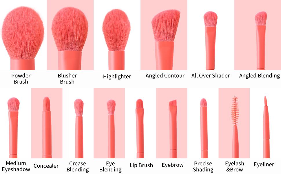 BEILI Makeup Brushes 15pcs Professional Makeup Brush Set
