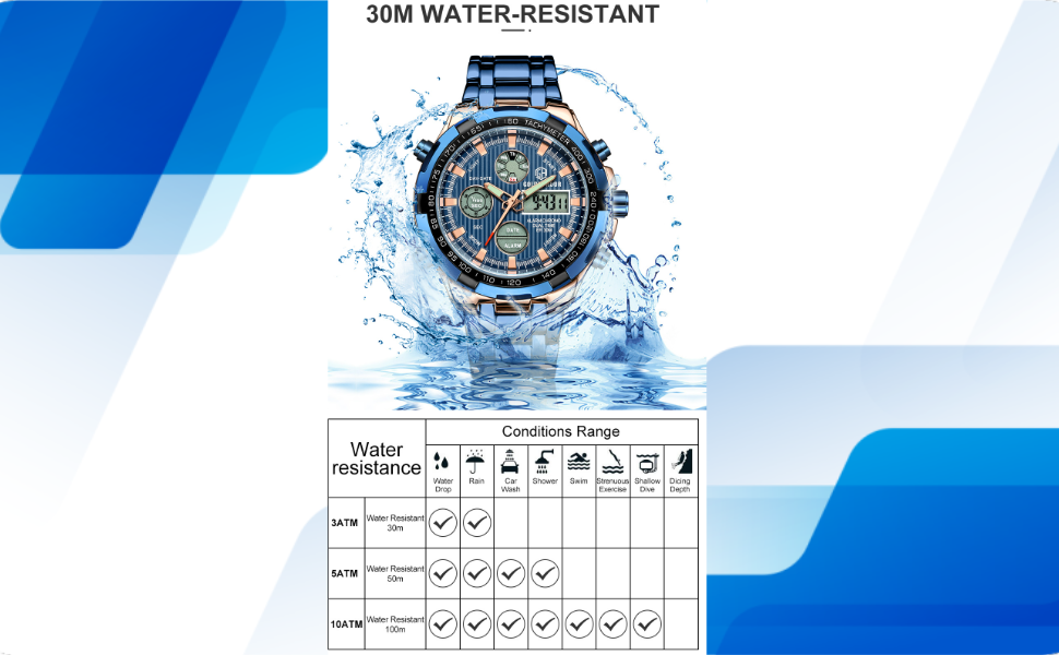 digital watch waterproof