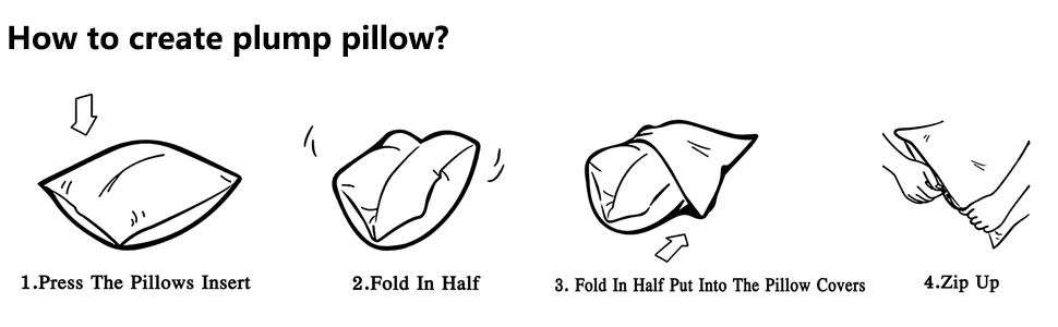 How to create plump pillow?