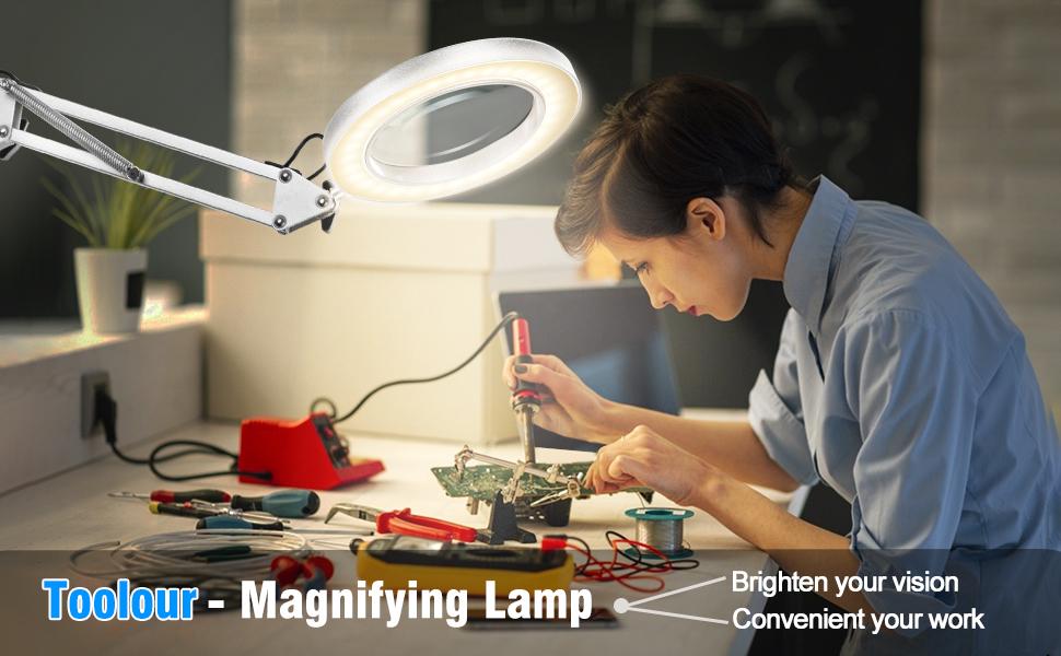 Toulour 5X Magnifier Lamp