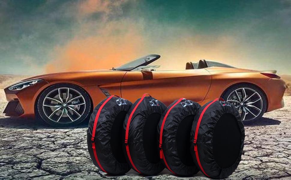 Lot de 4 Housses de pneus