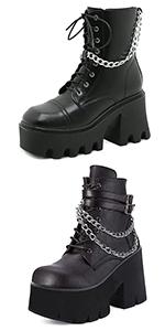 high heel platform boots for women
