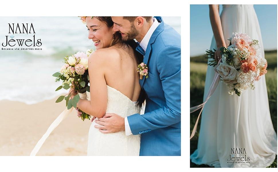 wedding, beach wedding, diamond ring