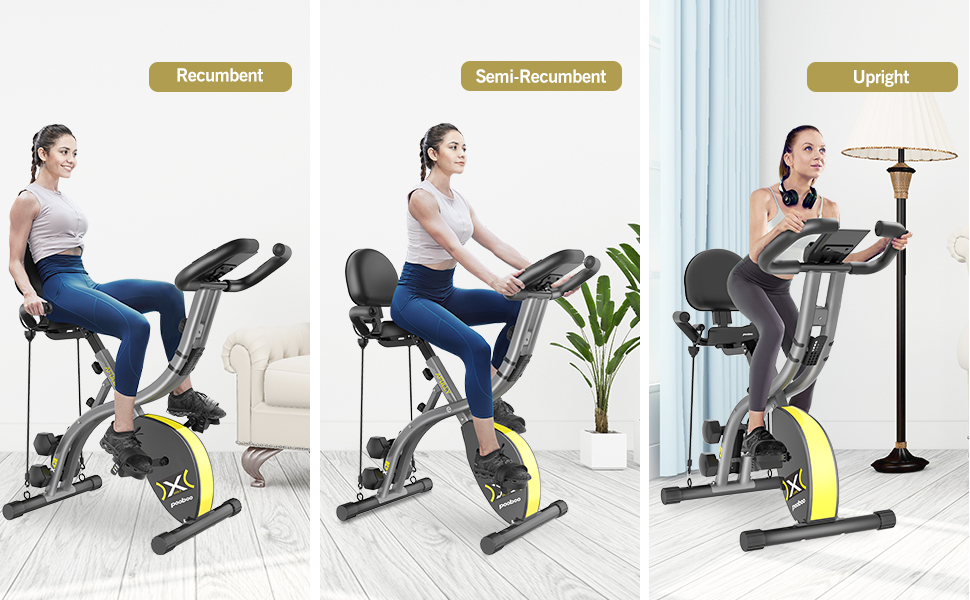 Correct riding posture for exercise bikes