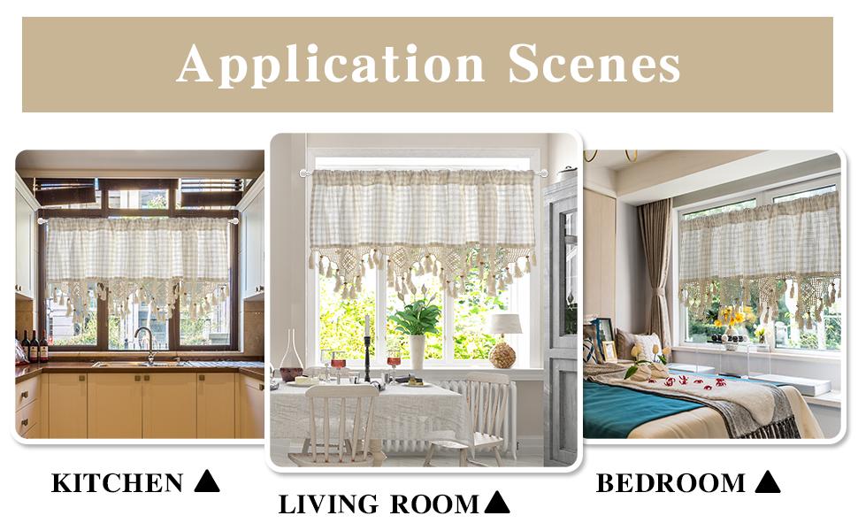 application scenes:kitchen,living room and bedroom