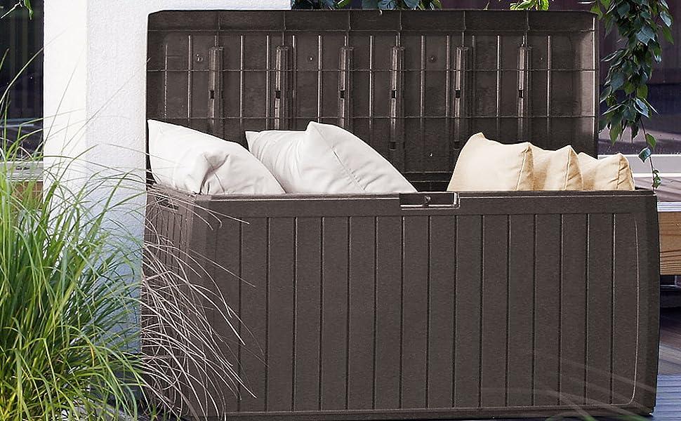 coffre de rangement malle extérieure coffre extérieur malle de stockage pour jardin balcon terrasse