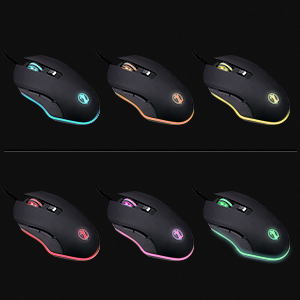 Colorful gaming professional mouse