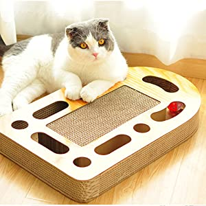 mouse kitten keep treat interactive durable scratchy cardboard jingle puzzle dispenser busy training