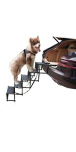 5 steps dog car ramp