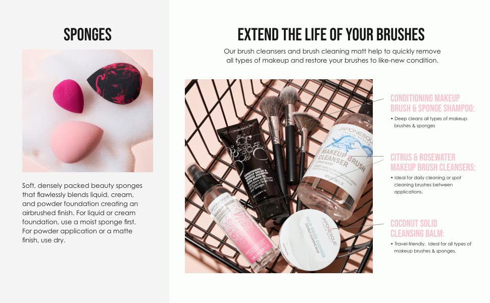 sponges extend the life of your brushes