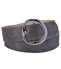 jessica simpson snakeskin round buckle belt