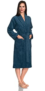 TowelSelections Women's Robe, Turkish Cotton Luxury Terry Shawl Bathrobe