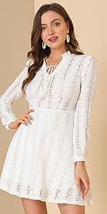 B09B8Y4V94 Tassels Tie Lace Dress