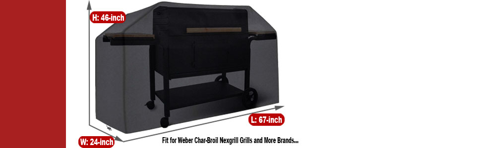 Waterproof BBQ Cover,UV Resistant,Durable and Convenient,Rip Resistant,Fits Grills of Weber