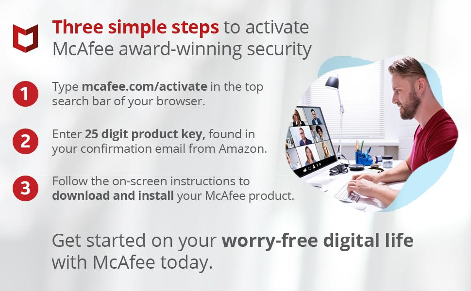 Three simple steps to activate.