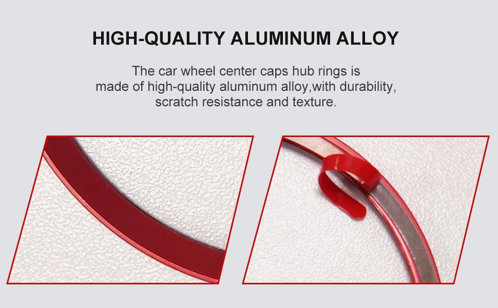 Car Wheel Center Caps Hub Rings  Aluminum Alloy