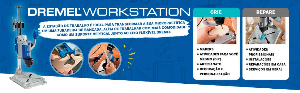 Dremel Estação de Trabalho Multiuso com Suporte Vertical para Microrretífica