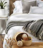 Throw blanket placed across bed