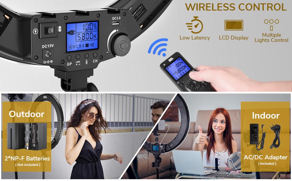 wireless control & indoor outdoor