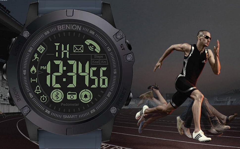 man running & watch