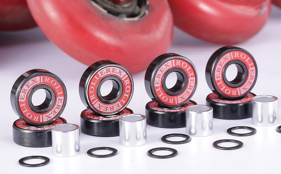 10pcs 8x22x7mm Skateboard quality Roller Blade Bearings Wheels ABEC-7 608ZZGKU